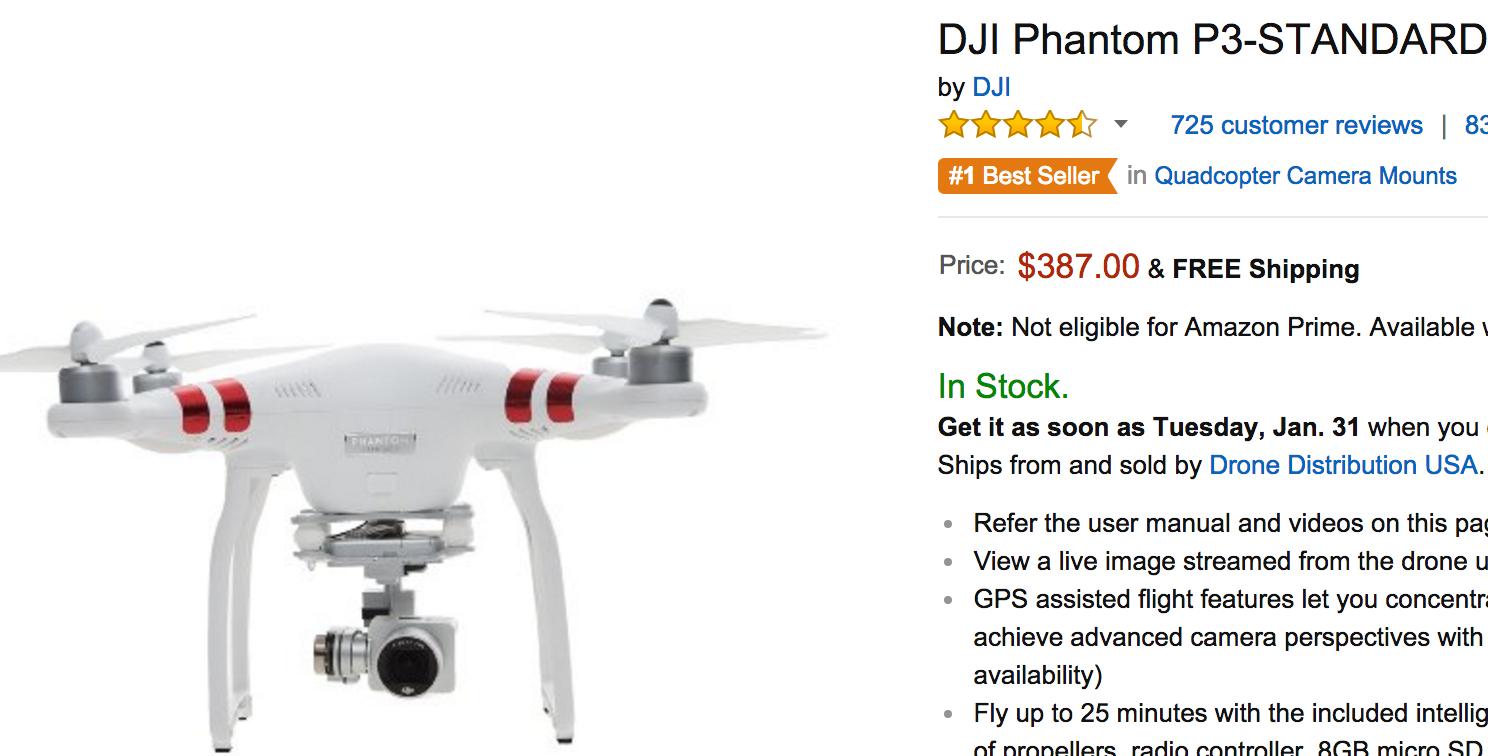 Phantom 3 Standard – $387 on Amazon | Drone Savings - Best