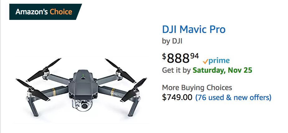 Mavic Pro 888 At Amazon